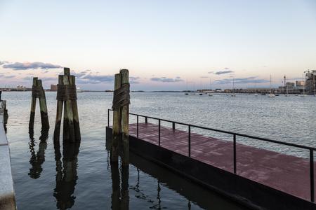 Sunset in the Boston Harbor Stock fotó