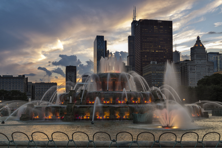 Buckingham Fountain in Chicago Editorial