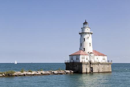 Chicago Light House Stock Photo