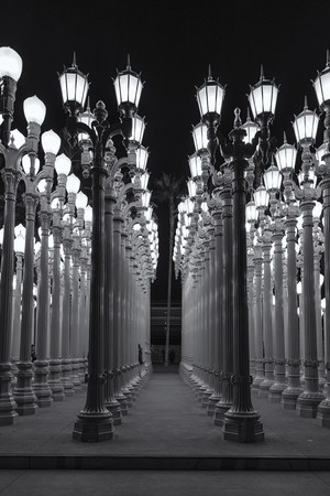 Lights in the LACMA museum