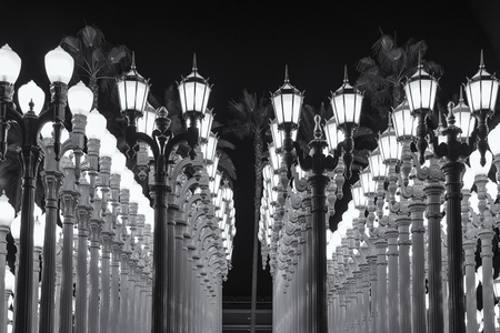 Lights in the LACMA Museum Stock Photo