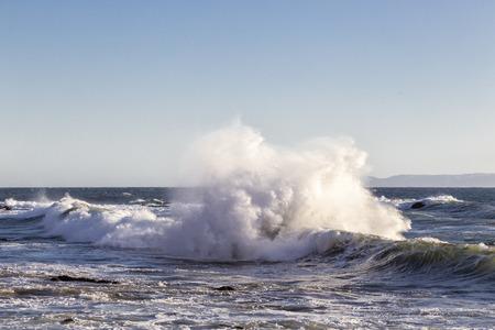 The Splash in the Sea Stockfoto