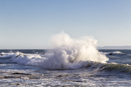 The Splash in the Sea 写真素材