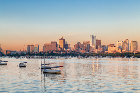 Boston Skyline Фото со стока