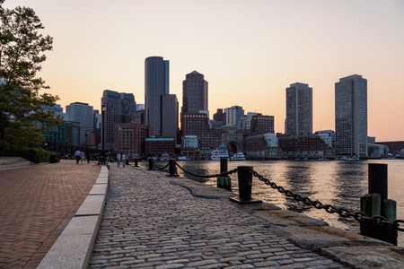 Fan Pier Park, Boston, Massachusetts Imagens