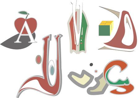 Some playful fonts Illusztráció