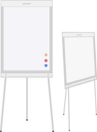 two whiteboard for education and for business, for presentation