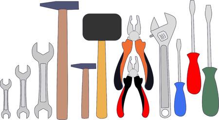 Garage tools set vector illustration