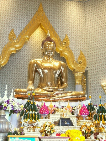 gold: Gold Buddha in Thai Temple Stock Photo