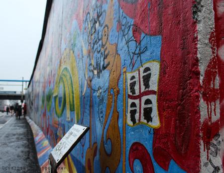 Sardinian flag on the Berlin's wall