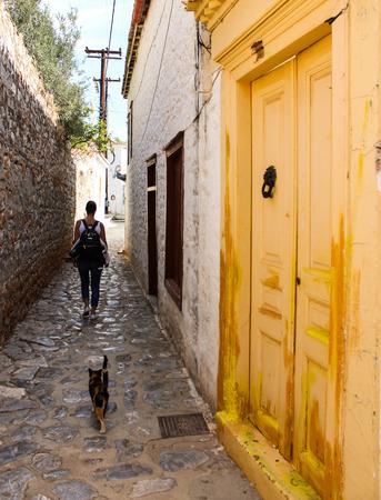 Streets of Greece Stock Photo
