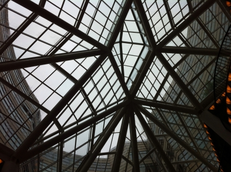 metal structure: Metal structure at Galerie Lafayette Berlin