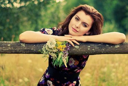 young girls nature: Rural girl