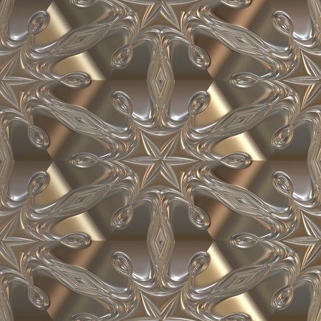 Metal plate with 3D seamless pattern