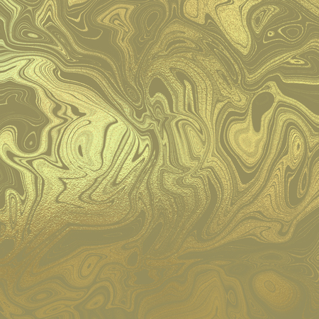 Gold psychedelic background Stock Photo