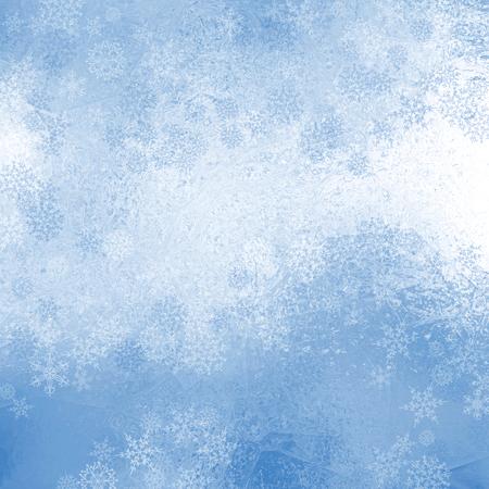 Christmas shiny background with snowflakes Stock Photo