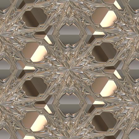 Digital art design, 3D metal seamless background