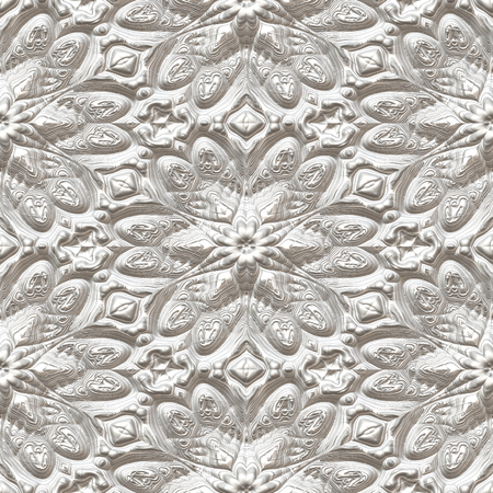 3D seamless floral pattern Stock Photo