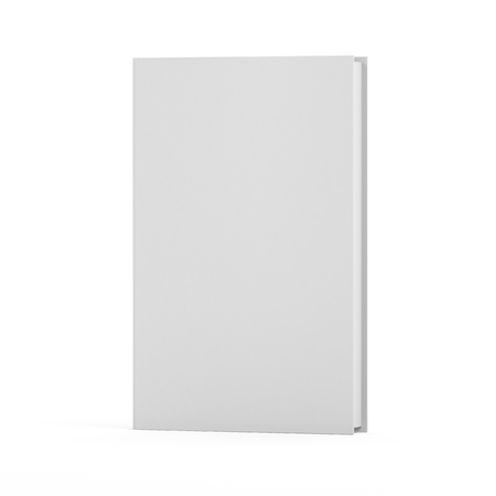 Blank book isolated on white background, mock up, 3d render Stock Photo
