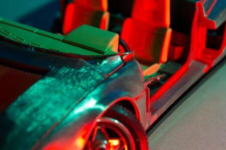 Dashboard of a destroyed model car Reklamní fotografie