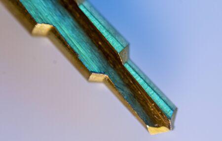 Macro image of a peeling drill Stock Photo