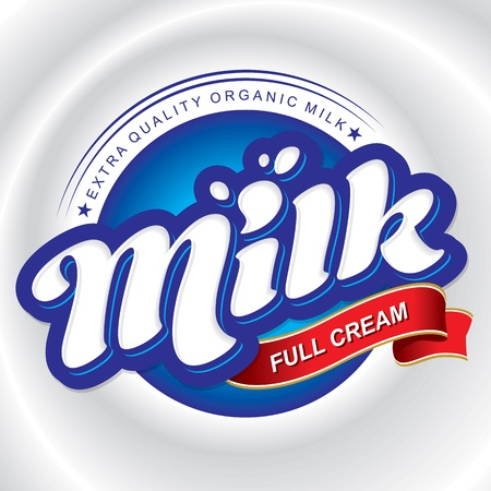 hand lettering: milk packaging design, hand lettering (vector)