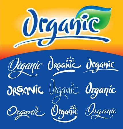 type lettering: organic hand lettering headlines set (vector) Illustration
