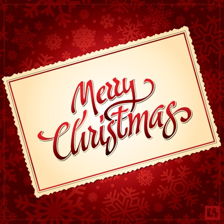 Merry Christmas hand lettering (vector) Stock Vector - 10699919