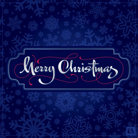 Merry Christmas hand lettering (vector) Vector