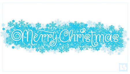 hand lettering: merry christmas hand lettering (vector) Illustration