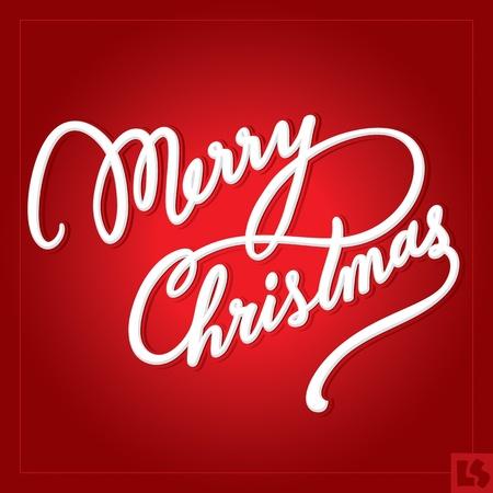 Merry Christmas scritta a mano (vector) Archivio Fotografico - 11272884