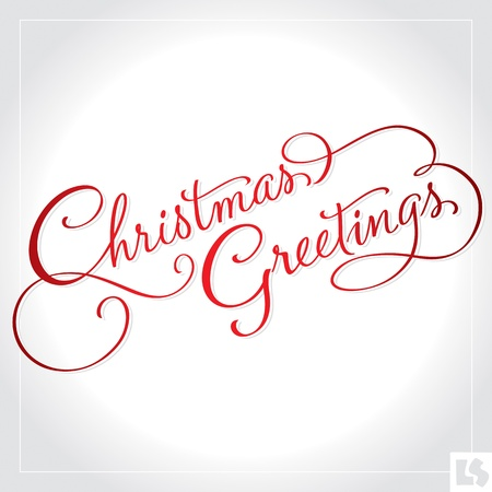 hand lettering: Christmas Greetings hand lettering (vector)