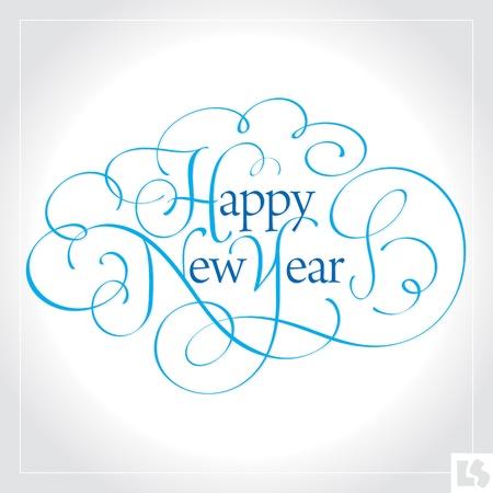 Gelukkig Nieuwjaar kant letters (vector)