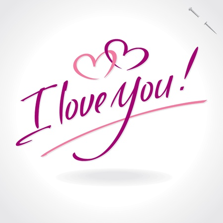 love you hand lettering (vector) Vector