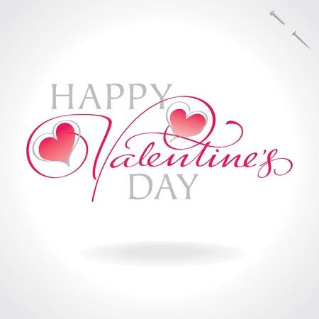 valentines hand lettering (vector) Illustration