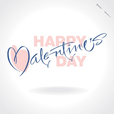 valentines hand lettering (vector) Illustration