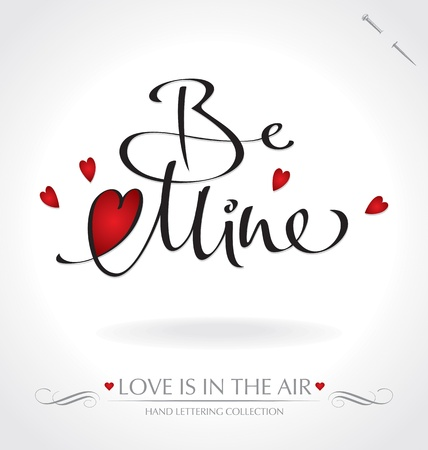 be mine hand lettering (vector) Stock Vector - 11977304