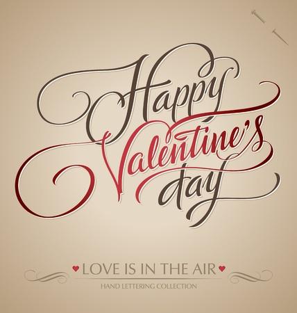 valentine hand lettering Stock Vector - 12002100
