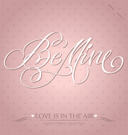 be mine hand lettering Stock Vector - 12002103