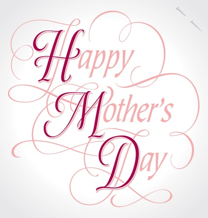 happy mother s day hand lettering  vector  Illustration