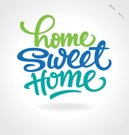 saying: home sweet home hand lettering