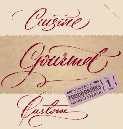 vintage menu headlines set  Illustration