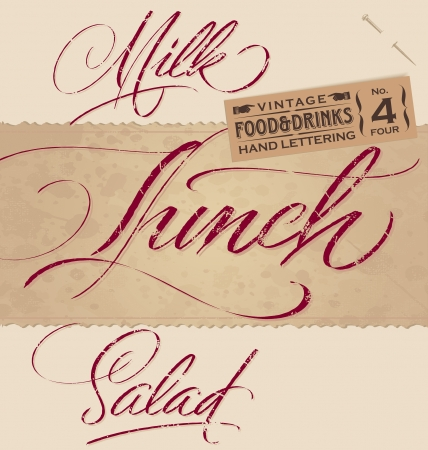 vintage menu headlines set  Illustration