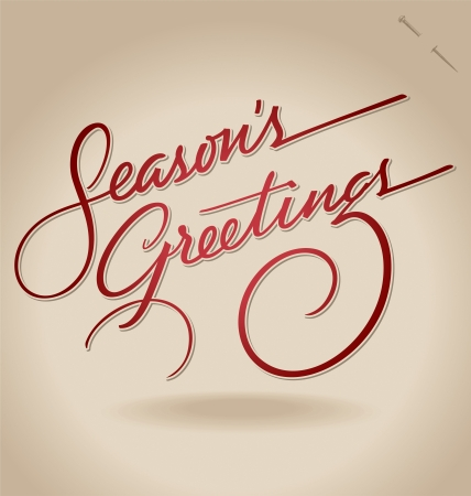 hand lettering: Seasons Greetings hand lettering  vector