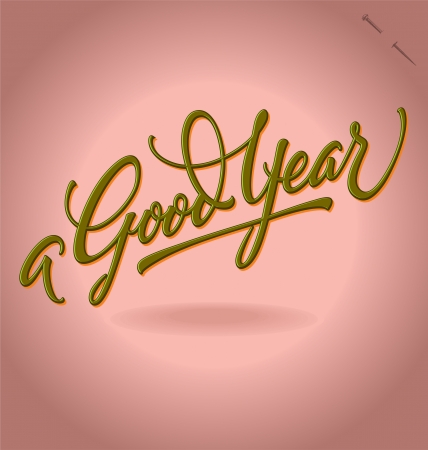A Good Year hand lettering Stock Vector - 15164371