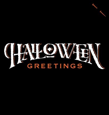 жуткий: Хэллоуин Привет стороны надписи Иллюстрация