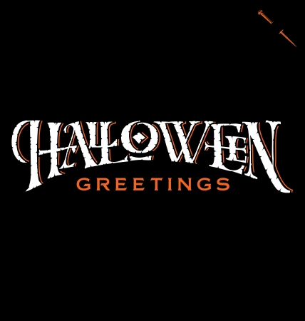 halloween party: Halloween Greetings hand lettering