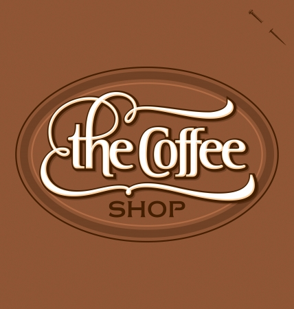 The Coffee Shop hand lettering Stock Vector - 15164373