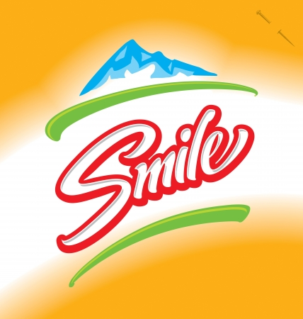 SMILE hand lettering (vector)
