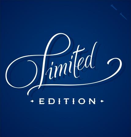 edizione straordinaria: Mano lettering LIMITED (vettore)